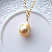 Украшения handmade. Livemaster - original item 12mm Gold South Sea Pearl pendant buy. Handmade.