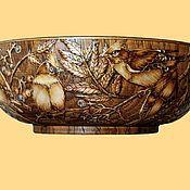 """Для дома и интерьера ручной работы. Ярмарка Мастеров - ручная работа чаша """"Свиристели"""". Handmade."""