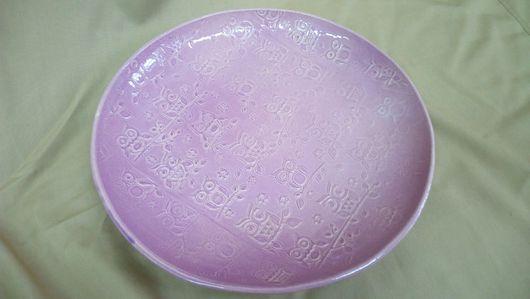 """Тарелки ручной работы. Ярмарка Мастеров - ручная работа. Купить Керамическая тарелка """"Совушки"""" большая. Handmade. Тарелка ручной работы"""