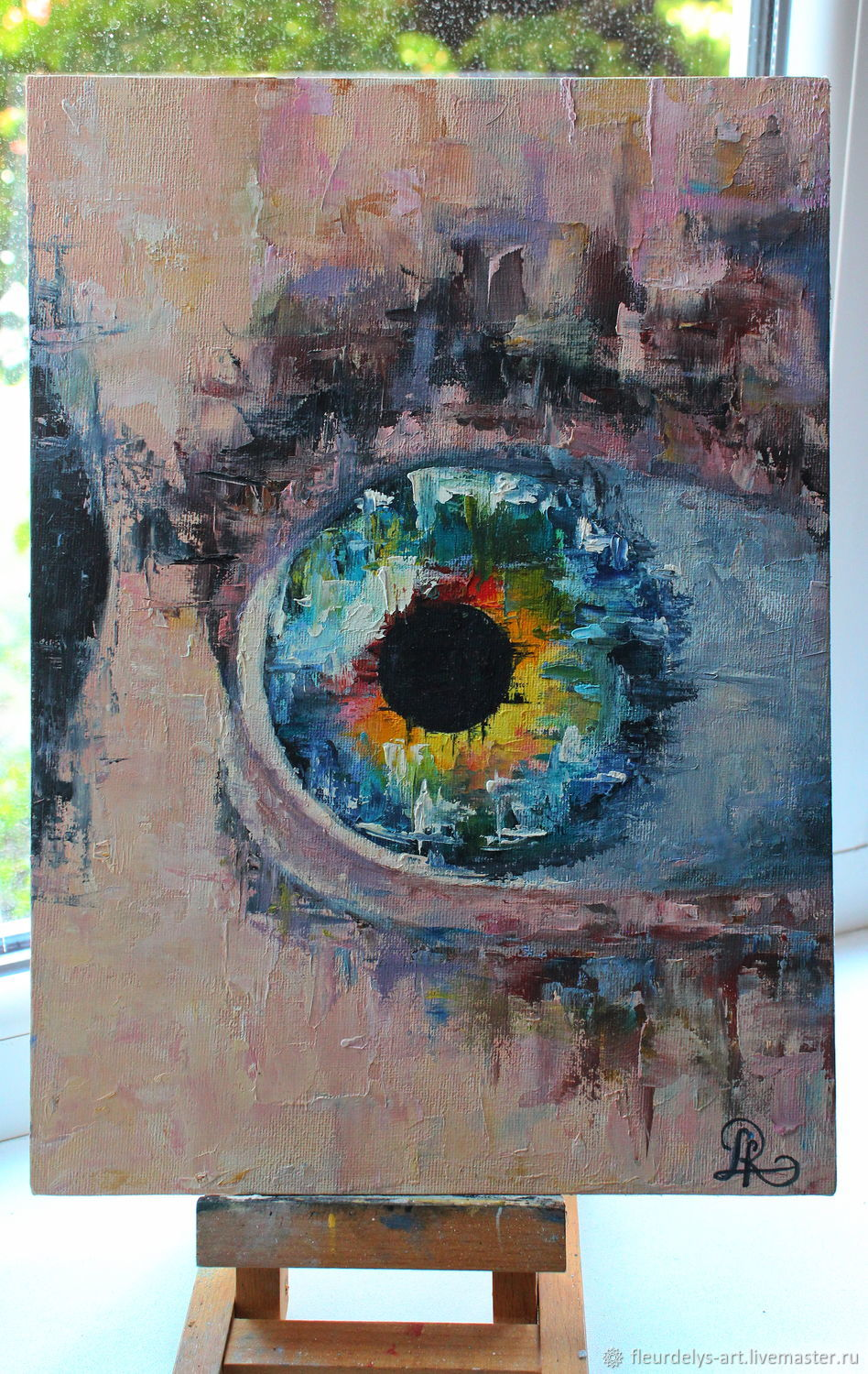Eyes. Abstract oil painting 30/40, Pictures, Armavir,  Фото №1
