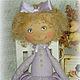 Куклы тыквоголовки ручной работы. Ярмарка Мастеров - ручная работа. Купить Клара - текстильная куколка Фея Заветных Желаний. Handmade.