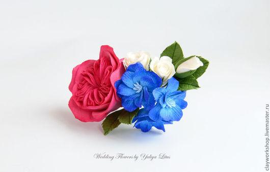 Свадебные украшения ручной работы. Ярмарка Мастеров - ручная работа. Купить Цветы для свадебной прически. Handmade. Айвори, цветы для невесты