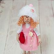 Куклы и игрушки ручной работы. Ярмарка Мастеров - ручная работа Ангелочек в розовом. Handmade.