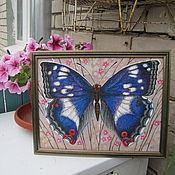 """Картины и панно ручной работы. Ярмарка Мастеров - ручная работа """"Полёт бабочки"""". Handmade."""