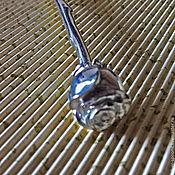 """Посуда ручной работы. Ярмарка Мастеров - ручная работа Серебряная чайная ложка """"Роза"""" с гравированным черпалом (Ag 925). Handmade."""