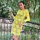 """Платья ручной работы. Платье """"Лимонный изыск"""". Наталья Седова. Интернет-магазин Ярмарка Мастеров. Цветочный, лимонное платье"""