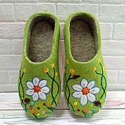 """Обувь ручной работы. Ярмарка Мастеров - ручная работа Валяные тапочки """"Травы луговые"""". Handmade."""
