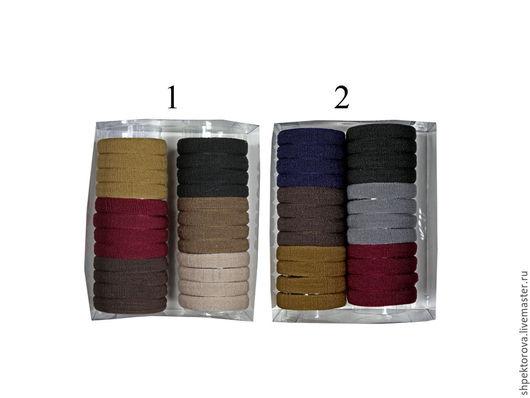 Другие виды рукоделия ручной работы. Ярмарка Мастеров - ручная работа. Купить Резинки для волос наборы (12 пар)в коробках темные основа. Handmade.