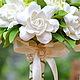 Букеты ручной работы. Букет невесты с розами и гардениями из полимерной глины.. Юлия Найдун ~ FlowerTree. Ярмарка Мастеров.