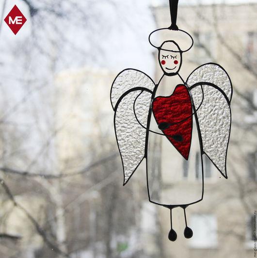 """Подарки для влюбленных ручной работы. Ярмарка Мастеров - ручная работа. Купить интерьерная подвеска """"прозрачный ангел с сердцем"""". Handmade."""