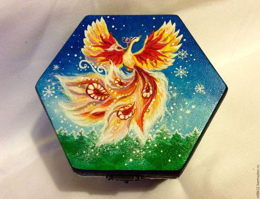 Сказочная Жар-птица подарит сказочное настроение и будет хранительницей ваших украшений и приятных мелочей)