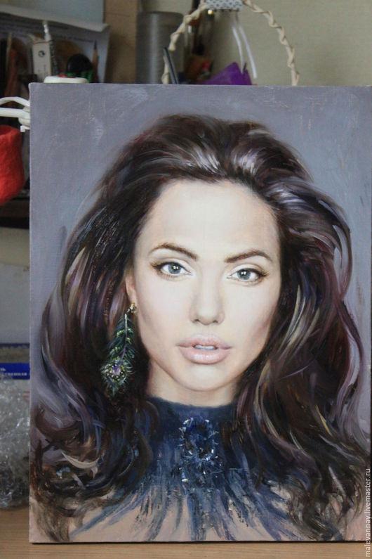 Пример портрета на заказ маслом на холсте.безупречное качество. гарантия качества,сочный портрет в звездном  стиле . ощути себя звездой!