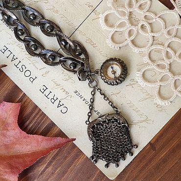 Винтаж ручной работы. Ярмарка Мастеров - ручная работа Антикварный шатлен, с монетницей и компасом, редкость, серебро 800. Handmade.