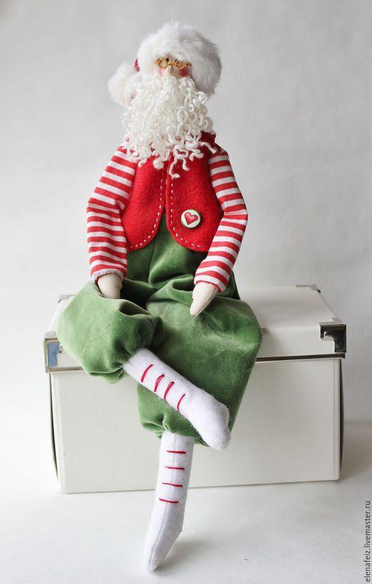 Куклы Тильды ручной работы. Ярмарка Мастеров - ручная работа. Купить Санта-моряк. Handmade. Ярко-красный, санта