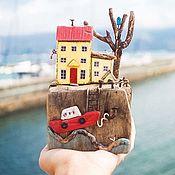 Для дома и интерьера ручной работы. Ярмарка Мастеров - ручная работа Нарциссово-желтый домик driftwood. Handmade.