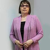 Одежда handmade. Livemaster - original item Pink knitted blouse. Handmade.