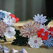 Украшения ручной работы. Ярмарка Мастеров - ручная работа Заколка канзаши. Handmade.