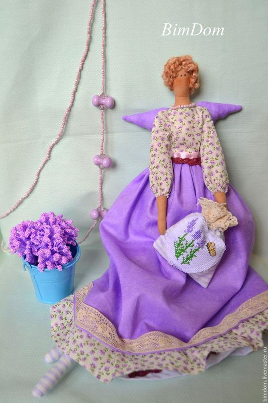 Куклы Тильды ручной работы. Ярмарка Мастеров - ручная работа. Купить Лавандовая фея в стиле Тильда. Handmade. Разноцветный, лаванда