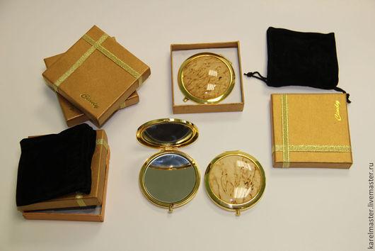 Декорированные зеркальца ручной работы. Ярмарка Мастеров - ручная работа. Купить Зеркало из карельской березы. Handmade. Зеркало, карельская береза