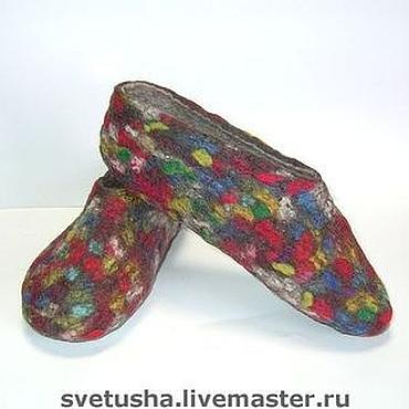 """Обувь ручной работы. Ярмарка Мастеров - ручная работа Валяные тапочки """"Шерстяная мозаика"""". Handmade."""