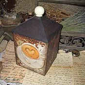 """Для дома и интерьера ручной работы. Ярмарка Мастеров - ручная работа """"Чашечка кофе"""" - короб для капсулированного кофе. Handmade."""