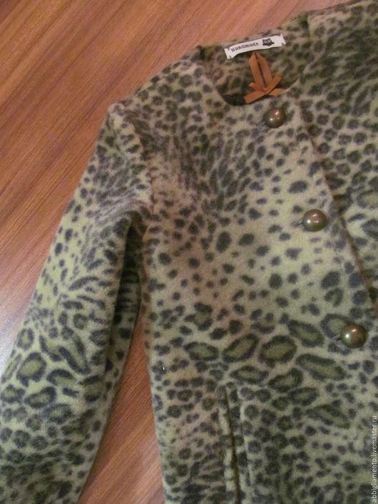 Верхняя одежда ручной работы. Ярмарка Мастеров - ручная работа. Купить Пальто для девочки. Handmade. Хаки, драп