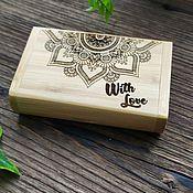 Сувениры и подарки handmade. Livemaster - original item 32 GB USB flash Drive in a case with your inscription. Handmade.