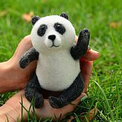 Куклы и игрушки ручной работы. Ярмарка Мастеров - ручная работа Войлочная игрушка Панда. Handmade.