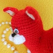 Куклы и игрушки ручной работы. Ярмарка Мастеров - ручная работа Кошечка-сердечко вязаная. Handmade.