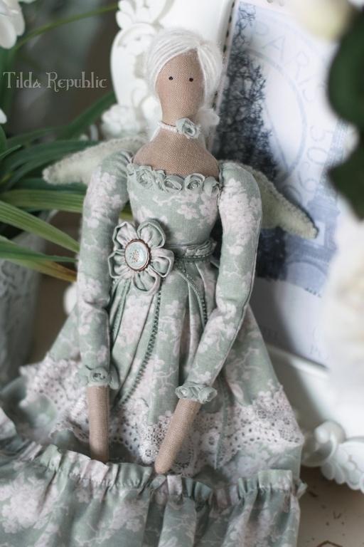 """Куклы Тильды ручной работы. Ярмарка Мастеров - ручная работа. Купить Тильда """"Нежность весны"""". Handmade. Мятный, тильда кукла"""
