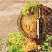 Материалы для творчества handmade. Livemaster - original item 12pc napkins for decoupage barrel wine glass print. Handmade.