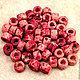 Для украшений ручной работы. Ярмарка Мастеров - ручная работа. Купить Мини-трубочки керамические, Миконос, розовые. Handmade.