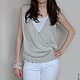 Чтобы лучше рассмотреть модель, нажмите на фото CUTE-KNIT Ната Онипченко Ярмарка мастеров Купить серый женский жилет вязаный
