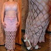 """Одежда ручной работы. Ярмарка Мастеров - ручная работа Летний комплект юбка + топ """"Элегия"""". Handmade."""