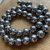 Материалы для творчества handmade. Livemaster - original item Hematite faceted beads 9mm. Handmade.