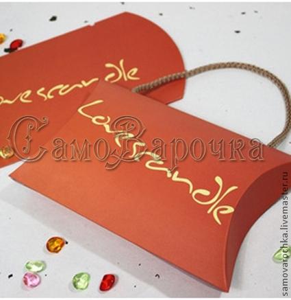 """Упаковка ручной работы. Ярмарка Мастеров - ручная работа. Купить Коробка-пакет """"Love Scandle"""". Handmade. Упаковка, коробка"""