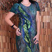 Одежда ручной работы. Ярмарка Мастеров - ручная работа Изумруд платье из мериносовой шерсти. Handmade.