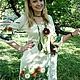 """Платья ручной работы. Заказать Платье """"Летний этюд"""". Виктория. Ярмарка Мастеров. Вязаное платье, маки, Вышивка лентами"""
