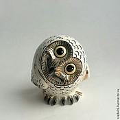 Для дома и интерьера handmade. Livemaster - original item Porcelain curious owl. Handmade.