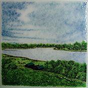 Картины и панно handmade. Livemaster - original item painting glass Landscape. Handmade.