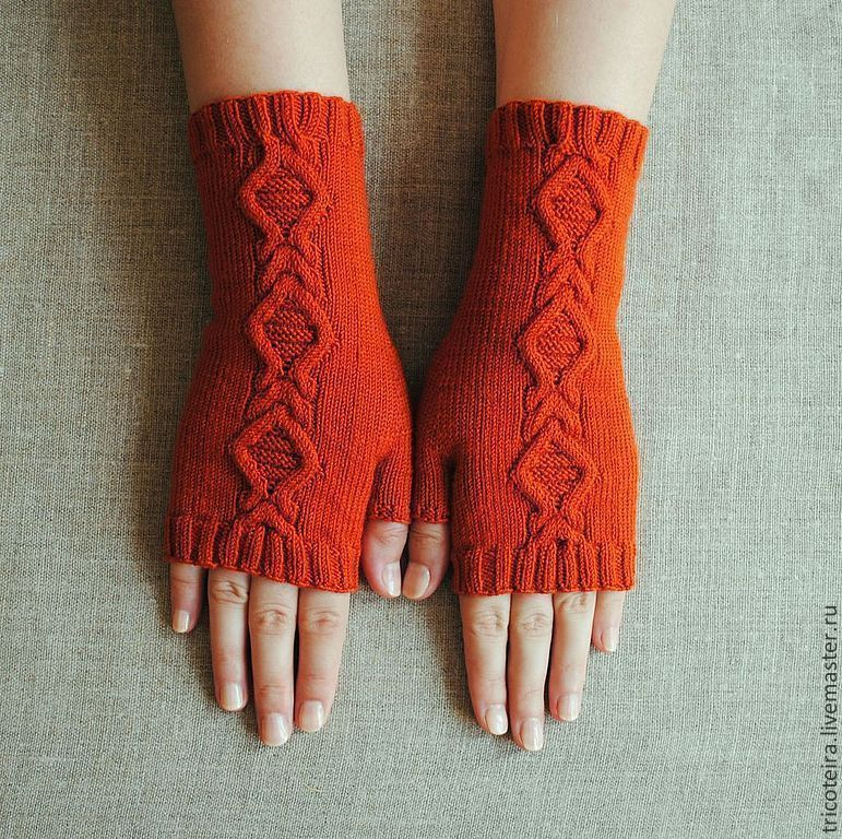 Mitts knitted with, Mitts, Moscow,  Фото №1