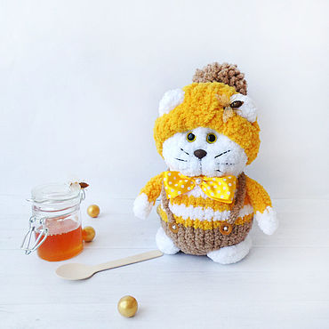Dolls & toys handmade. Livemaster - original item Pchelkin The Cat. The toy is knitted of textured yarn. Handmade.