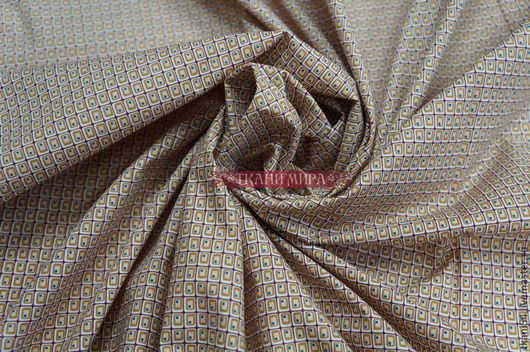 Шитье ручной работы. Ярмарка Мастеров - ручная работа. Купить Ткань сорочечная RWR-02, 150 см, бежевый. Handmade.