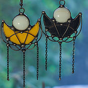 Украшения handmade. Livemaster - original item Earrings Honey and Tar. The moon. Handmade.