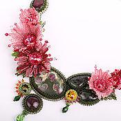 """Украшения ручной работы. Ярмарка Мастеров - ручная работа Колье """"Вальс цветущих хризантем"""". Handmade."""