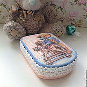 """Для дома и интерьера ручной работы. Ярмарка Мастеров - ручная работа Шкатулочка для мелочей """"Любимый Мишка"""". Handmade."""