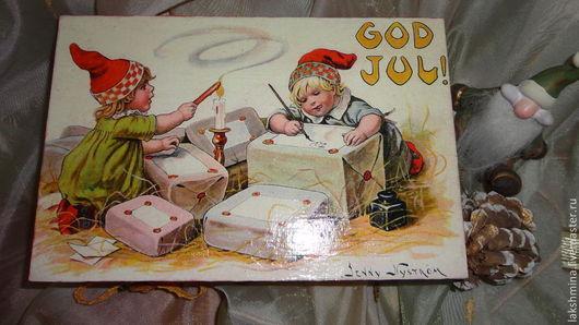 """Шкатулки ручной работы. Ярмарка Мастеров - ручная работа. Купить Шкатулка """"Помощники Санты """".. Handmade. Подарок на новый год"""