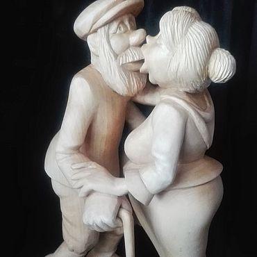 """Русский стиль ручной работы. Ярмарка Мастеров - ручная работа Деревянная статуэтка """"Поцелуй"""". Handmade."""