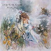 Картины и панно ручной работы. Ярмарка Мастеров - ручная работа картина Девушка и лошадь. Handmade.