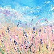 Картины и панно handmade. Livemaster - original item Oil painting on canvas. Lavender dream. Handmade.